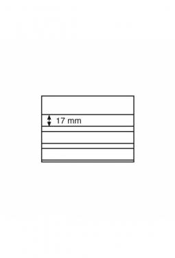Einsteckkarten Standard,158x113 mm,3 klare Streifen mit Deckblatt