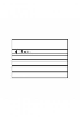 Einsteckkarten Standard,210x148 mm,5 klare Streifen mit Deckblatt