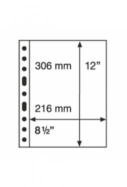 Kunststoffhüllen GRANDE, 1er-Einteilung, 50er Pack glasklar