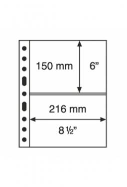 Kunststoffhüllen GRANDE, 2er-Einteilung, 50er Pack glasklar