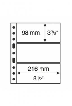 Kunststoffhüllen GRANDE, 3er-Einteilung, 5er Pack