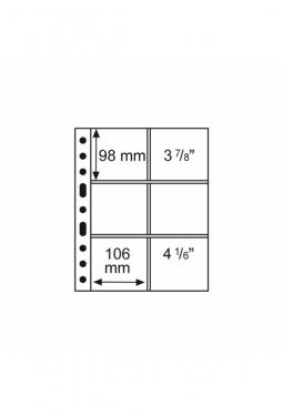 Kunststoffhüllen GRANDE, 6 Taschen für Bierdeckel, glasklar, 5er Pack