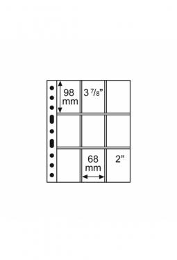 Kunststoffhüllen GRANDE, Spielkarten, 9er-Einteilung, 50er Pack glasklar