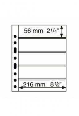 Kunststoffhüllen GRANDE, 5er Einteilung, schwarz, 5er Pack