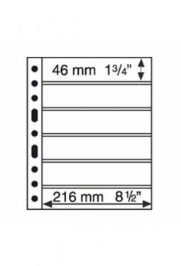 Kunststoffhüllen GRANDE, 6er Einteilung, schwarz, 5er Pack